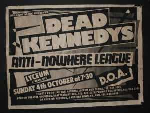 Dead Kennedys (with DH Peligro), Lyceum, London, UK, 1981, provided by Greg Artifix
